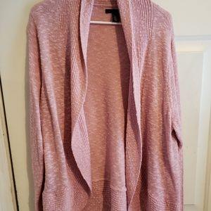 pink open cardigan, XXL